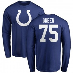 Men's Chaz Green Indianapolis Colts Name & Number Logo Long Sleeve T-Shirt - Royal