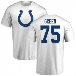 Men's Chaz Green Indianapolis Colts Name & Number Logo T-Shirt - White